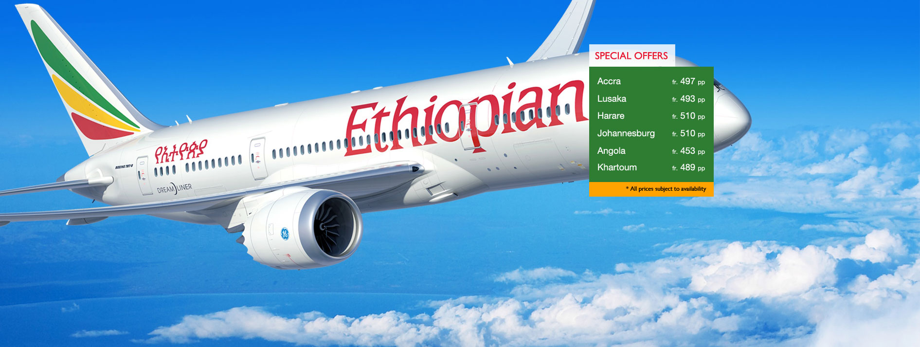 Ethiopian Airlines Special Offers Launch