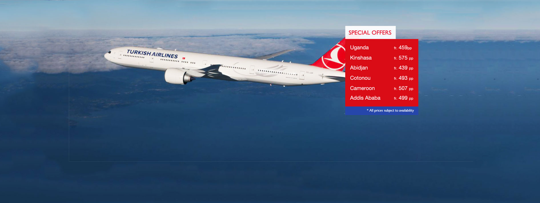 Turkish Airlines Special Offers